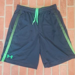 Under Armour Blue & Green Shorts